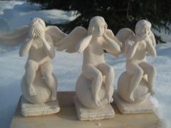 Ангелы Не вижу зла Не слышу зла Не говорю о зле
